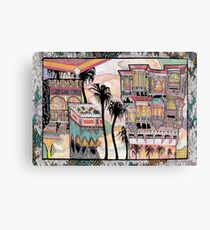 Palm Trees and Havelis Canvas Print