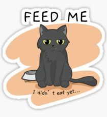 Pinpin Cat - Feed me funny design Sticker