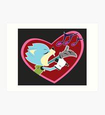 Justin Beaver (Sonic Boom) Art Print