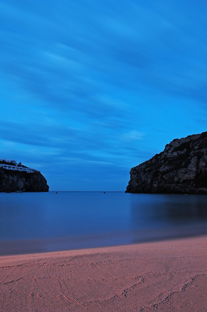 Ink blue dawn - Cala En Porter, Menorca by westie71
