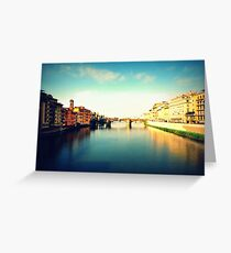 The River Arno Greeting Card
