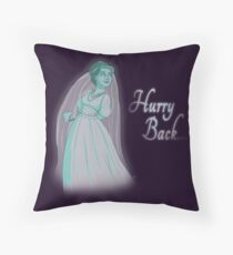 Hurry Back... Throw Pillow