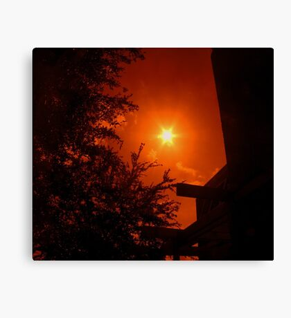 Dark Red Morning - Florida Canvas Print