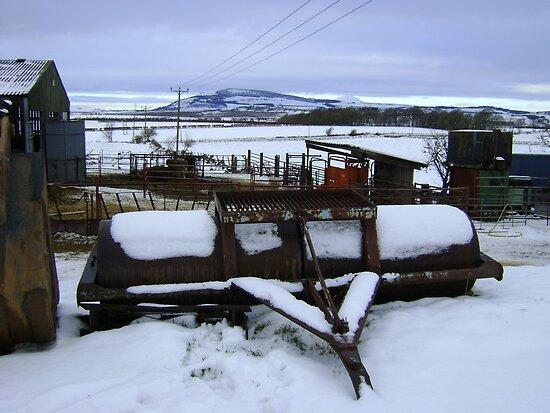Farmyard metal - Christmas day snowscape by armadillozenith