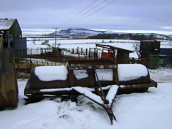 Farmyard metal - Christmas day snowscape by armadillozenith