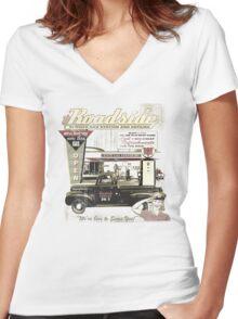 ROADSIDE Women's Fitted V-Neck T-Shirt