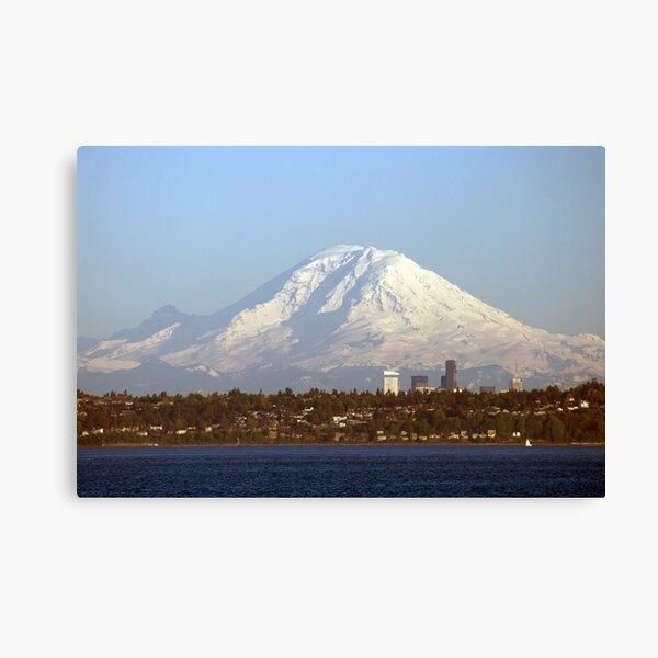 Mount Rainier From The Edmonds Ferry. Canvas Print