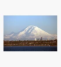 Mount Rainier From The Edmonds Ferry. Photographic Print