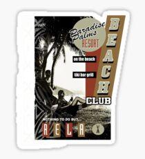 PARADISE PALMS Sticker