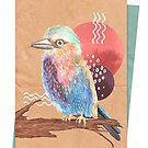 Rainbow Bird Collage by Brittany Hefren