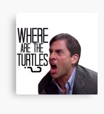 Michael Scott - Where Are the Turtles? Metal Print