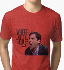 Michael Scott - Where Are the Turtles? Tri-blend T-Shirt