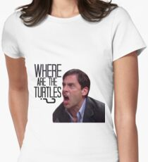 Michael Scott - Where Are the Turtles? Women's Fitted T-Shirt