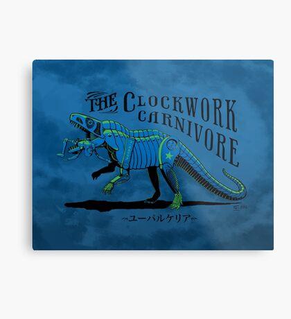 Clockwork Carnivore (Blue EUPARKERIA-TYPE) Metal Print