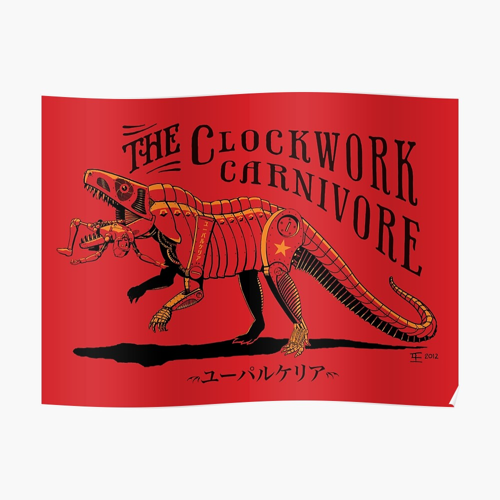 Clockwork Carnivore (Red EUPARKERIA-TYPE) Poster