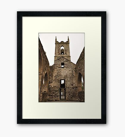 Baltinglass abbey inside view. Framed Print