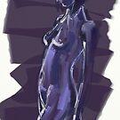 Portrait in Blue for Drawing Day by Jan Szafranski