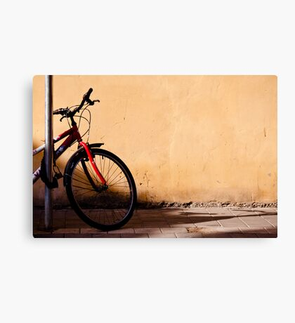 half of red bicycle Canvas Print