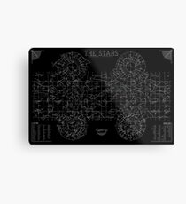 The Stars: A Constellation Map Metal Print