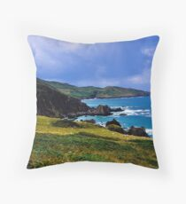 Devon coast on a sunny day Throw Pillow