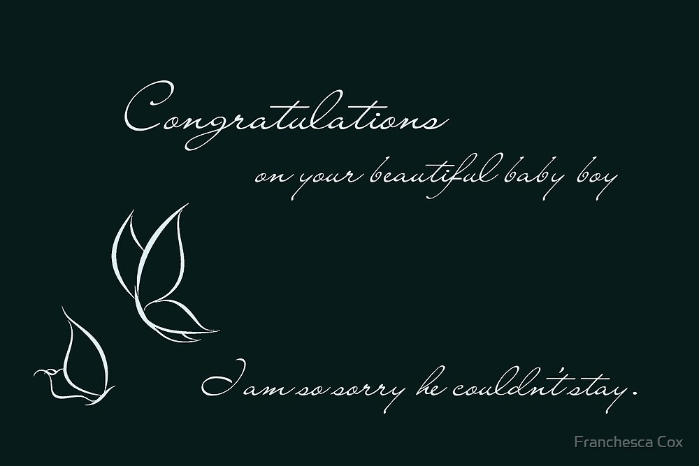 Congratulations On Your Beautiful Baby Boy by Franchesca Cox
