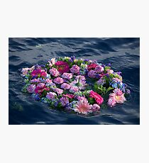 Flower crown on the sea! Photographic Print