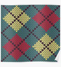 Retro Knit Argyle Poster