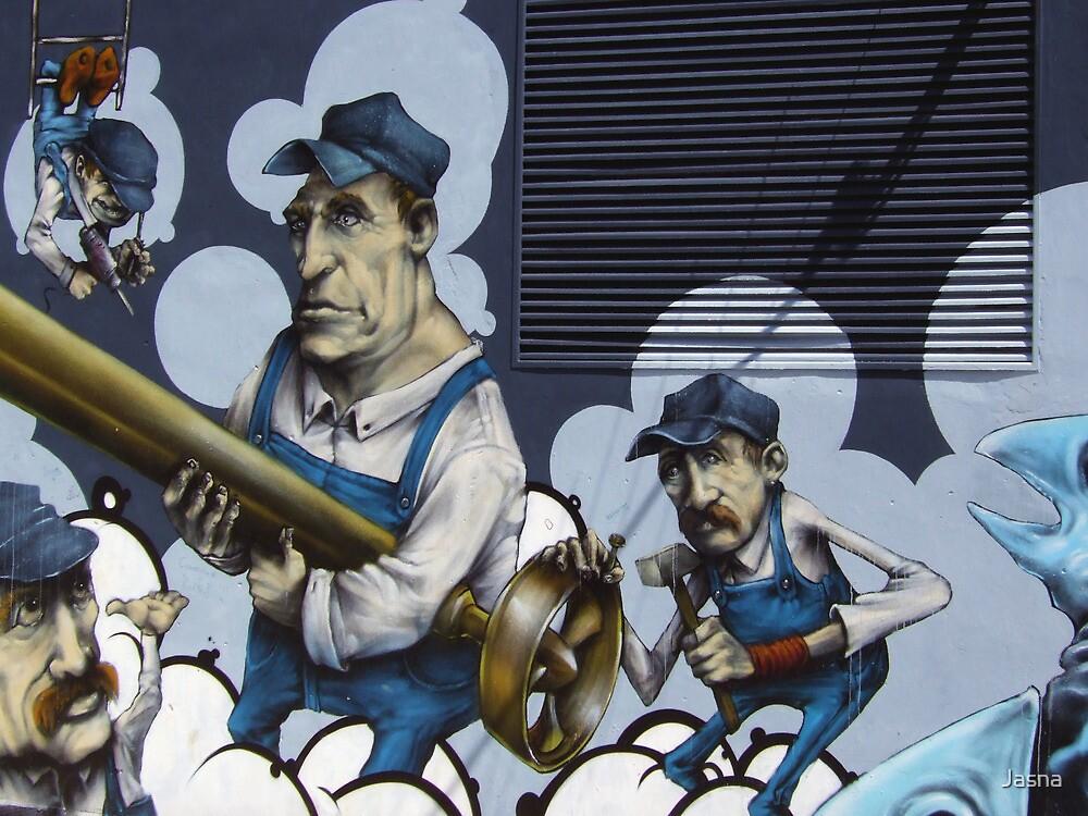 Workers Graffiti by Jasna