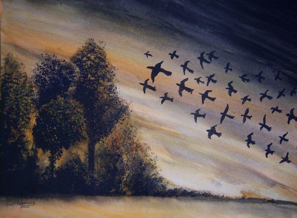 Birds in Flight by Mitch Adams