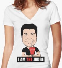 Simon Cowell, American Idol Judge Women's Fitted V-Neck T-Shirt