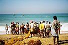 Men fishing in Kerala by Jasna