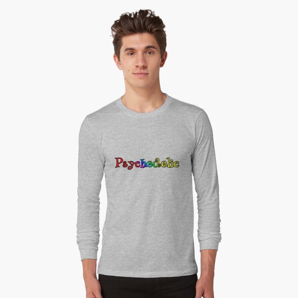 Psychedelic Retro Long Sleeve T-Shirt