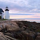 Dawn - Prospect Harbor Light by Patrick Downey