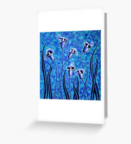 'Water Blooms' - peace lillies and reeds Greeting Card