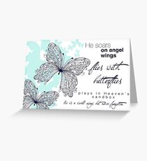 He Soars On Angel Wings Greeting Card