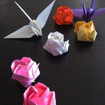Origami Paper Cranes by midorikawa