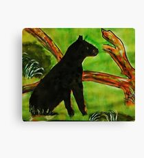 Black Panther  (opps  was going to be leopard)  for the Africa series, watercolor Canvas Print