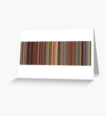 Moviebarcode: Spirited Away (2001) [Simplified Colors] Greeting Card