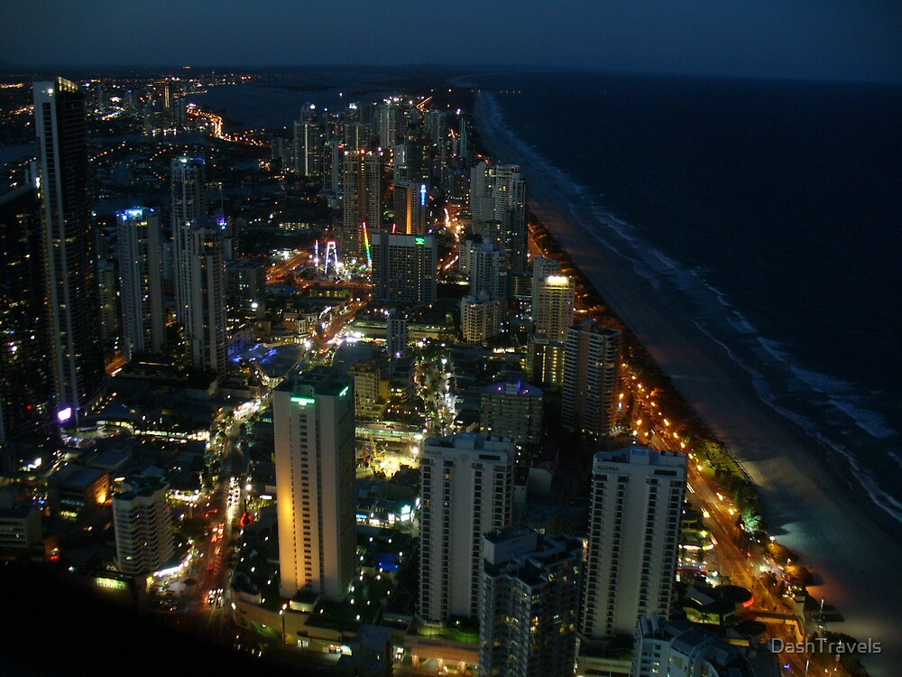 Gold Coast by night by DashTravels