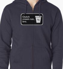 Clutch cream run, bro. Zipped Hoodie
