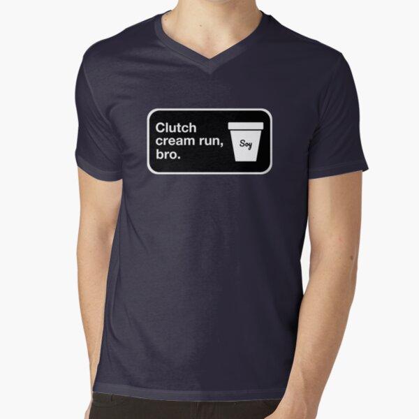 Clutch cream run, bro. V-Neck T-Shirt