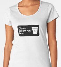 Clutch cream run, bro. Premium Scoop T-Shirt