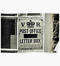 Victorian Postbox Poster