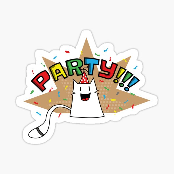 Party cat ready to party Sticker