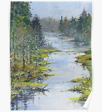 Middle River, South Shore, Nova Scotia Poster