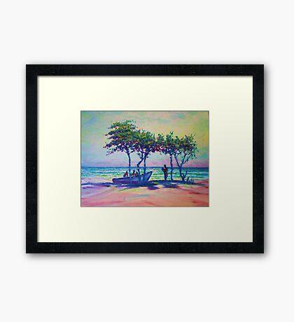 Caribean Sunset Framed Print