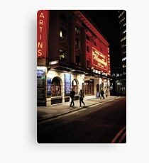 Outside the theatre Canvas Print