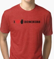 I <3 Zombies Tri-blend T-Shirt