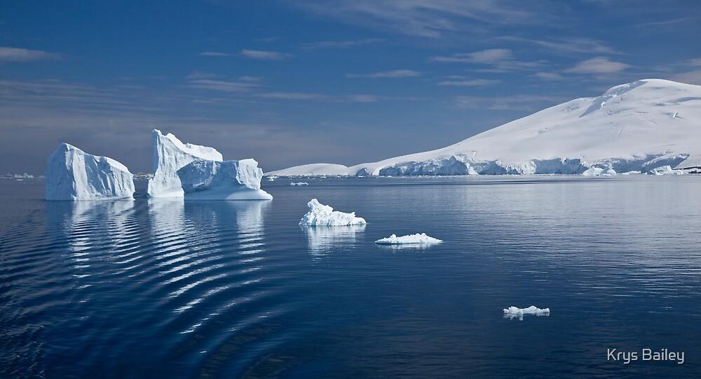 Simply Cyan (Gerlache Strait, Antarctica) by Krys Bailey