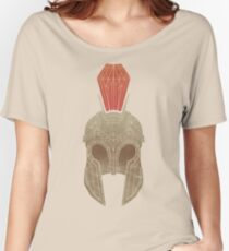 Geometric Trojan Helmet Women's Relaxed Fit T-Shirt